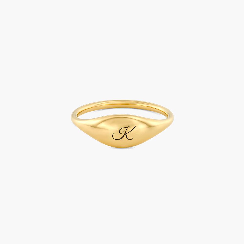 Kara Custom Name Ring - Gold Plated
