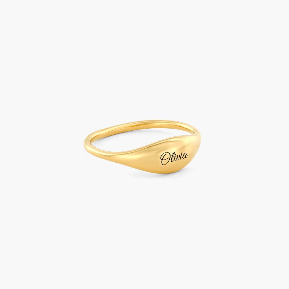 Kara Custom Name Ring - Gold Plated - 1
