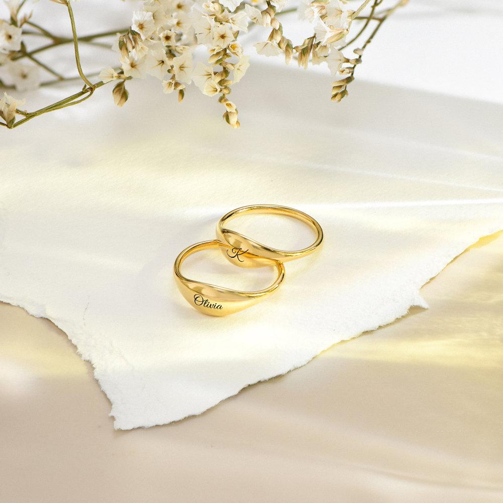 Kara Custom Name Ring - Gold Plated - 2