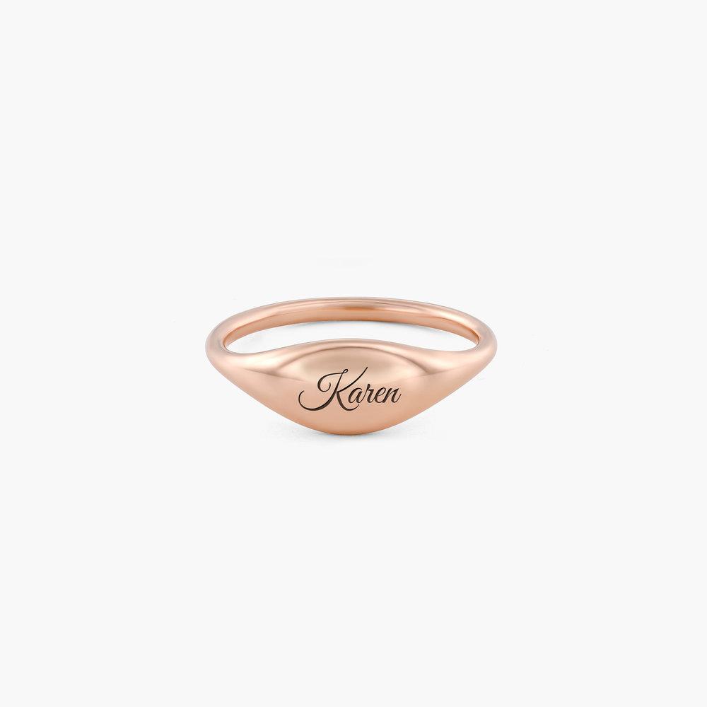 Kara Custom Name Ring - Rose Gold Plated