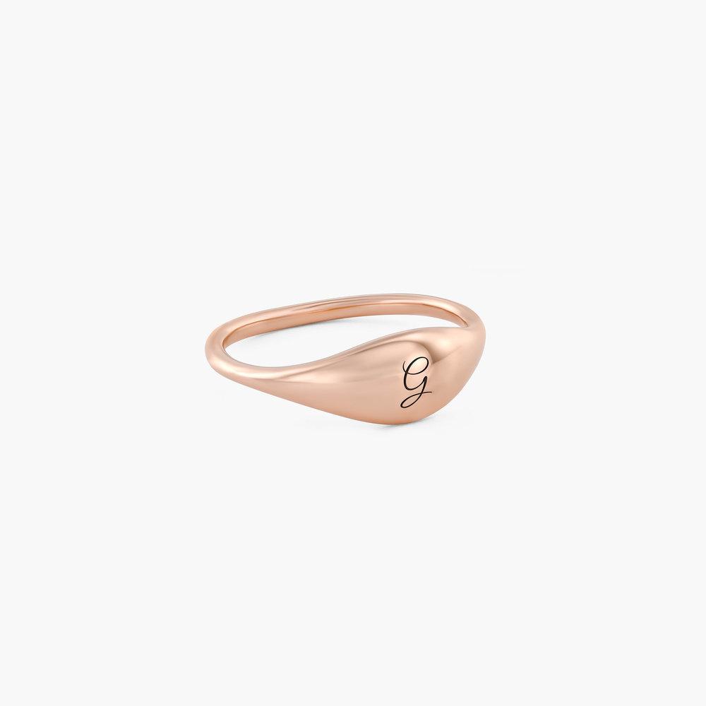 Kara Custom Name Ring - Rose Gold Plated - 1