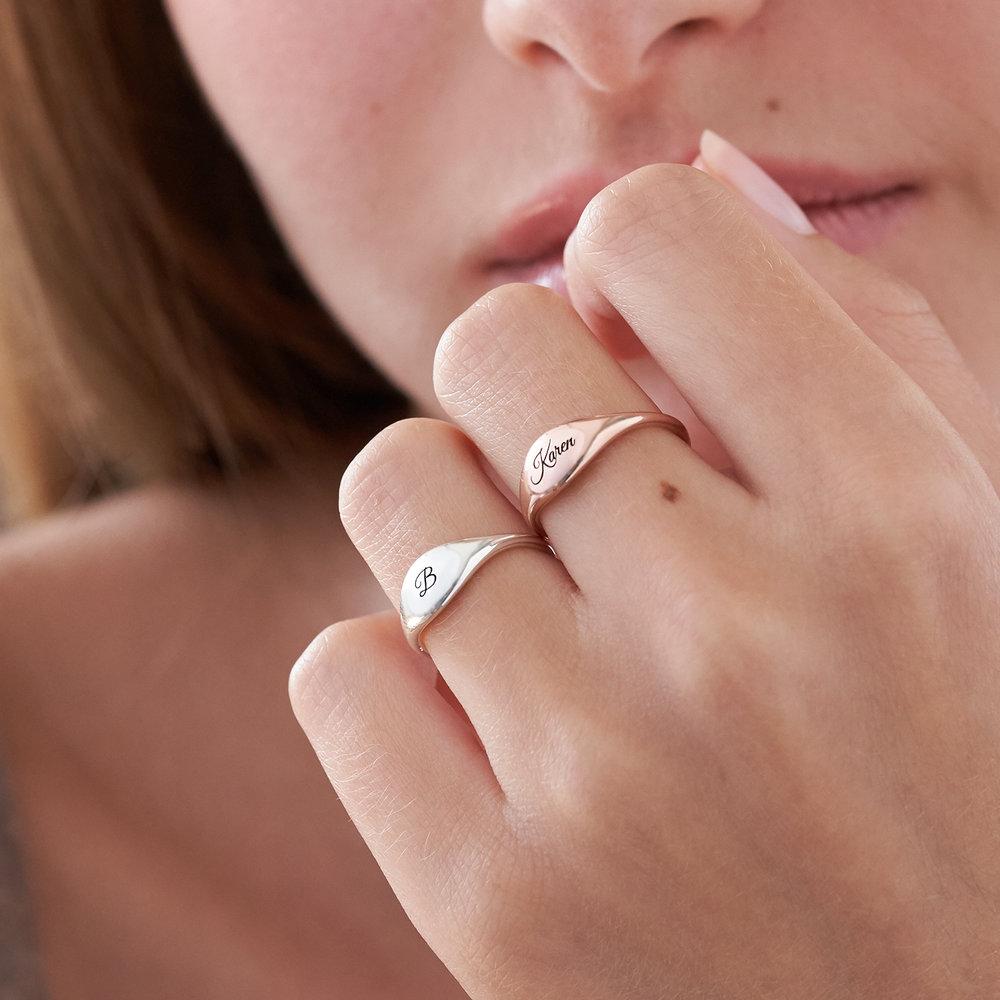 Kara Custom Name Ring - Rose Gold Plated - 4