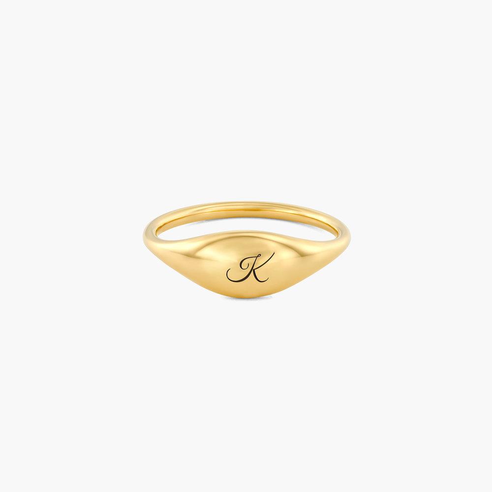 Kara Custom Name Ring - Gold Vermeil
