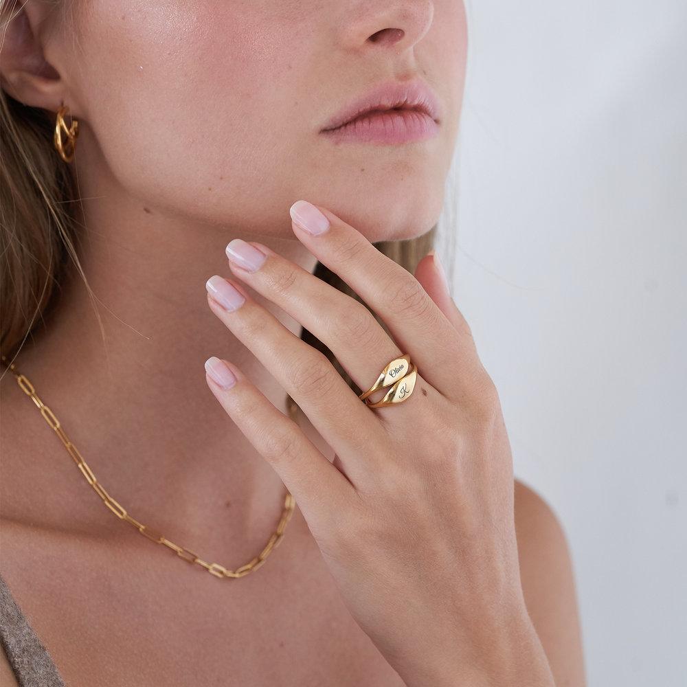 Kara Custom Name Ring - Gold Vermeil - 3