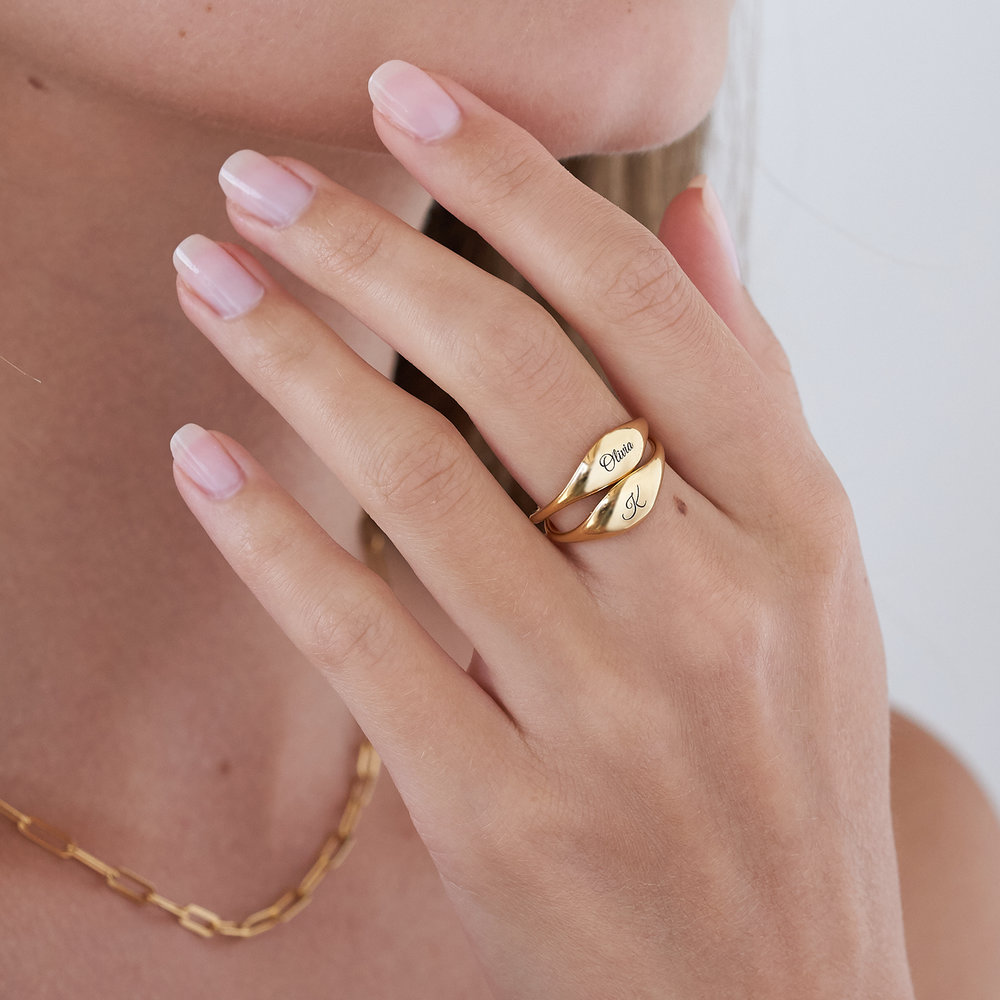 Kara Custom Name Ring - Gold Vermeil - 4