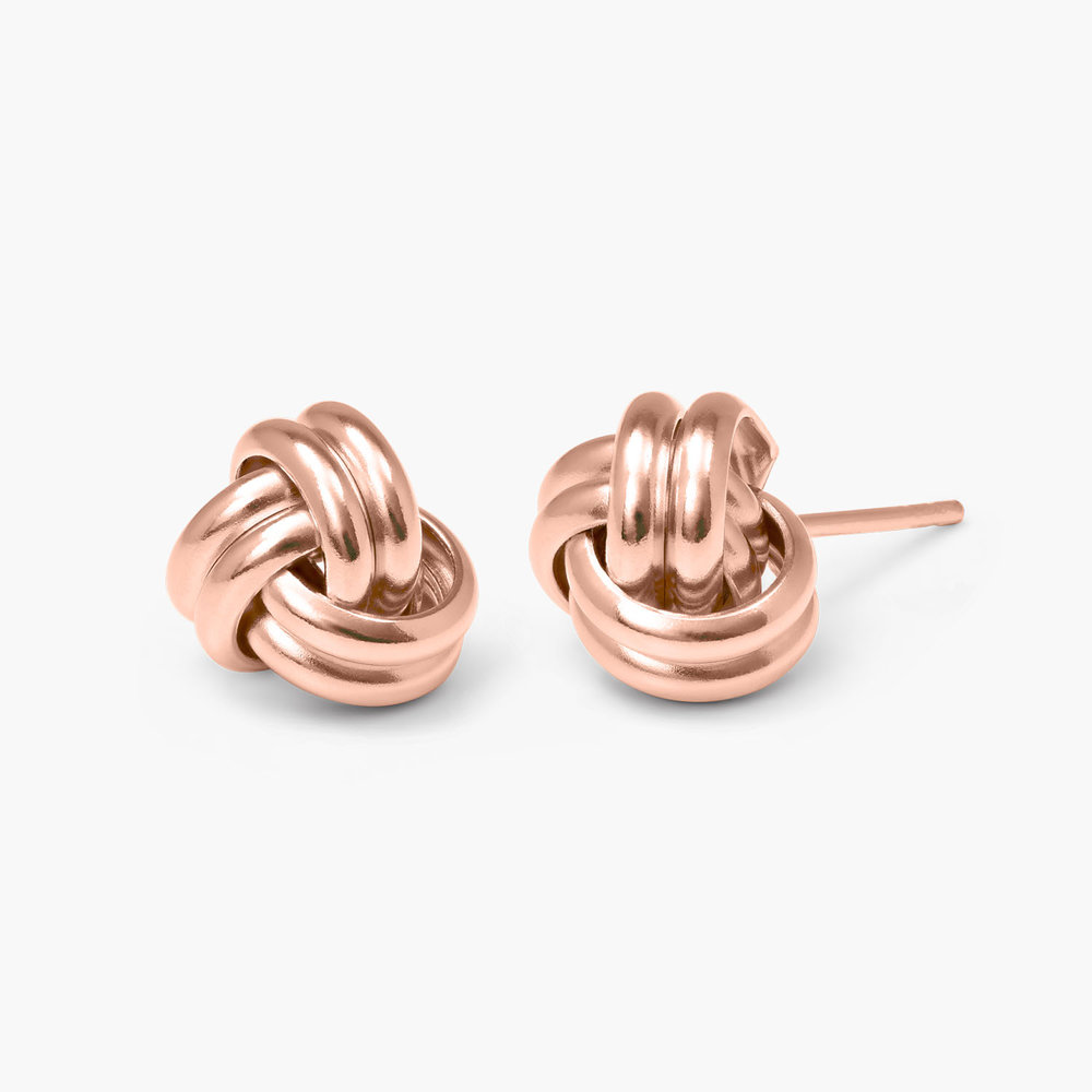 Forget Me Knot Earrings - Rose Gold Plated