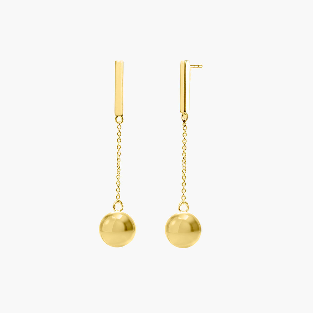 Orb Drop Earrings - Gold Plated