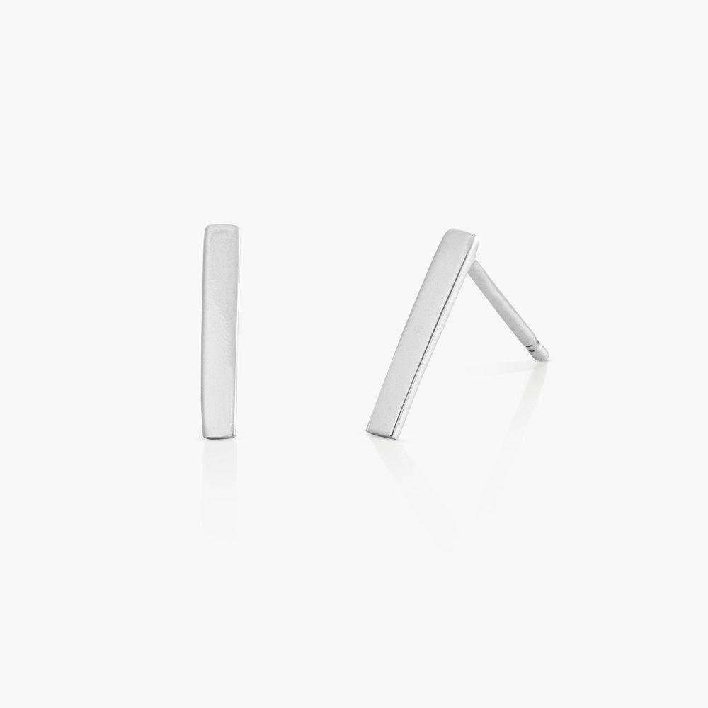 Bar Earrings - Silver