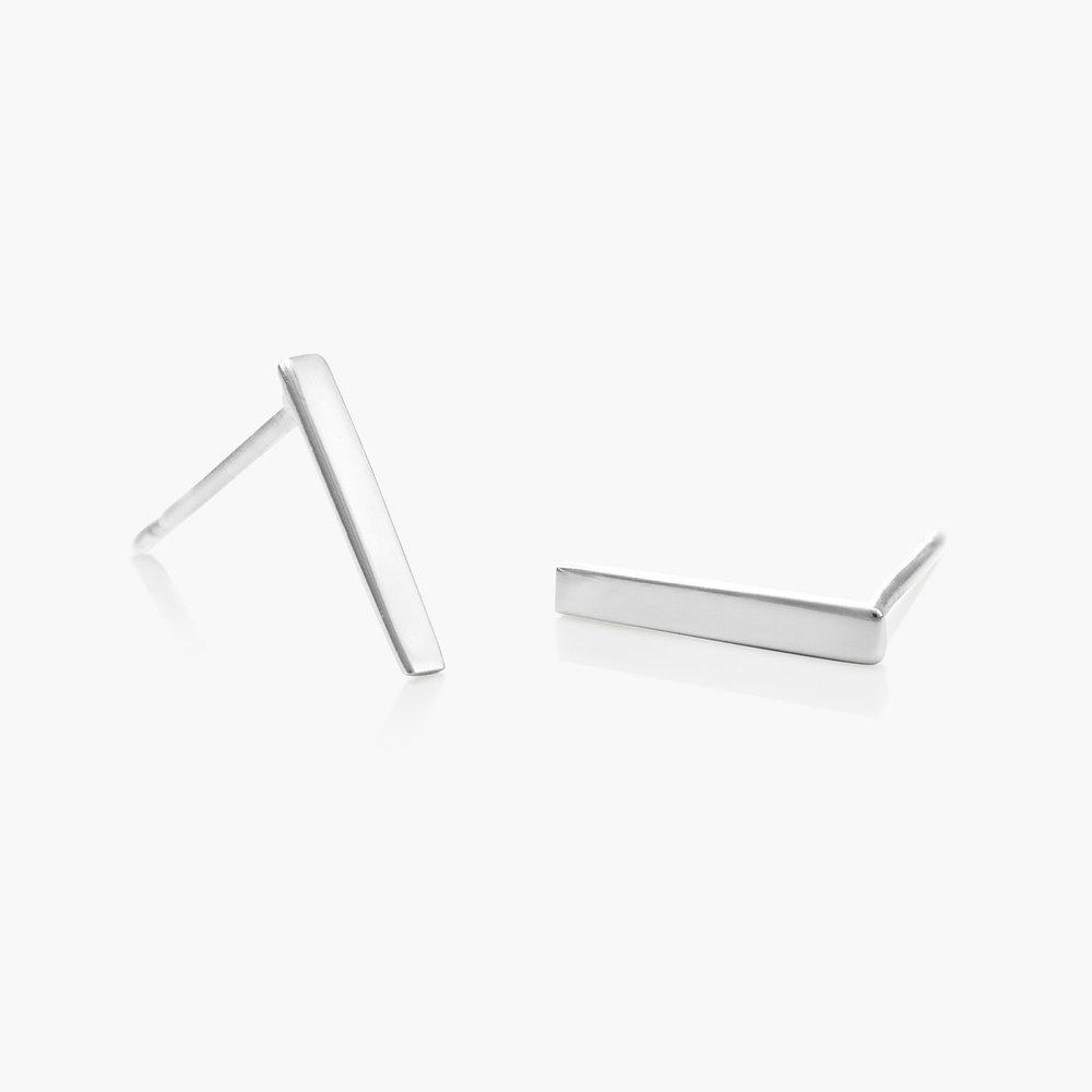 Bar Earrings - Silver - 1