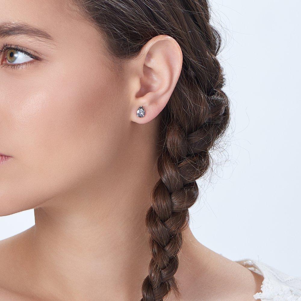 Glimmer Teardrop Earrings - Crystal Clear - 3