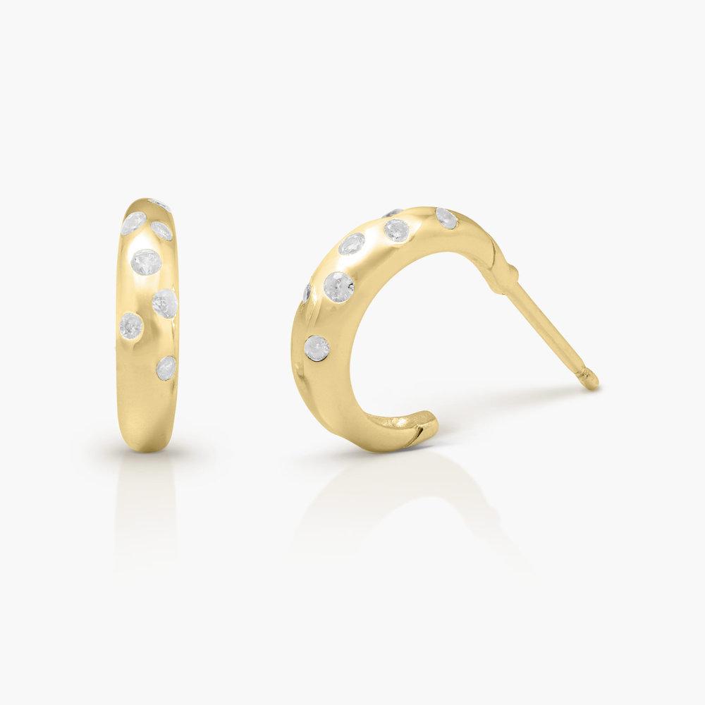 Whisper Hoop Earrings - Gold Plated