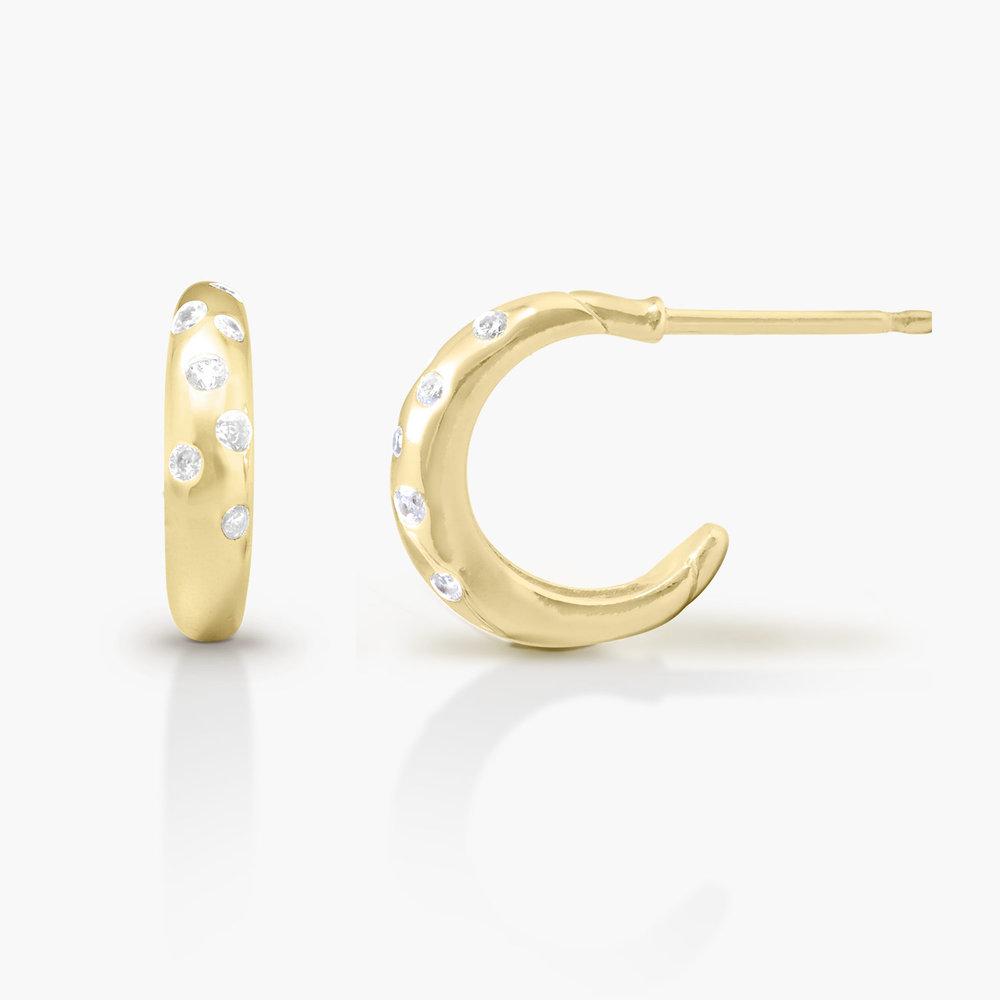 Whisper Hoop Earrings - Gold Plated - 1
