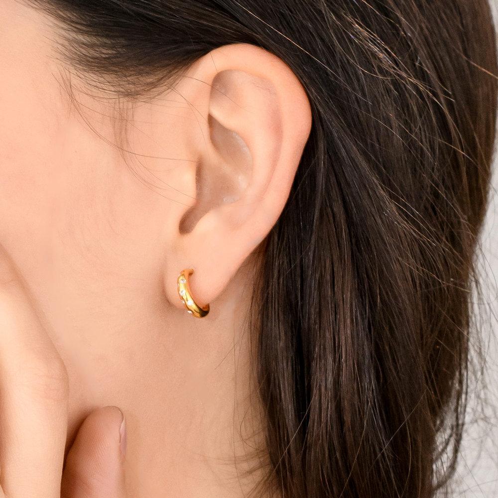 Whisper Hoop Earrings - Gold Plated - 4
