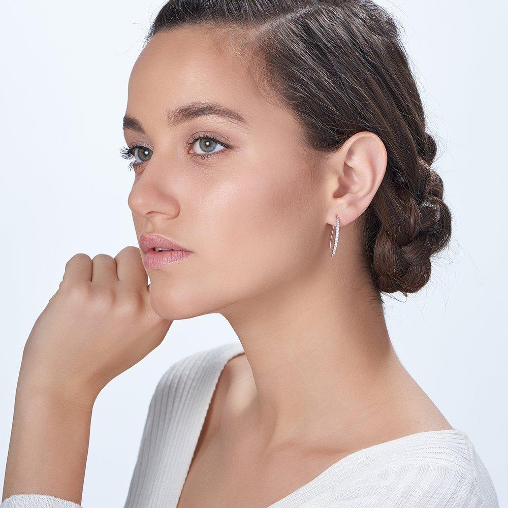 Harper Dangle Earrings - Silver - 1