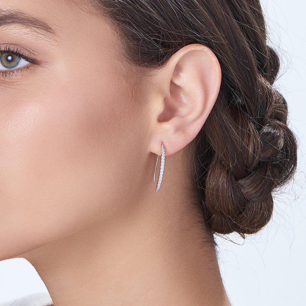 Harper Dangle Earrings - Silver - 2