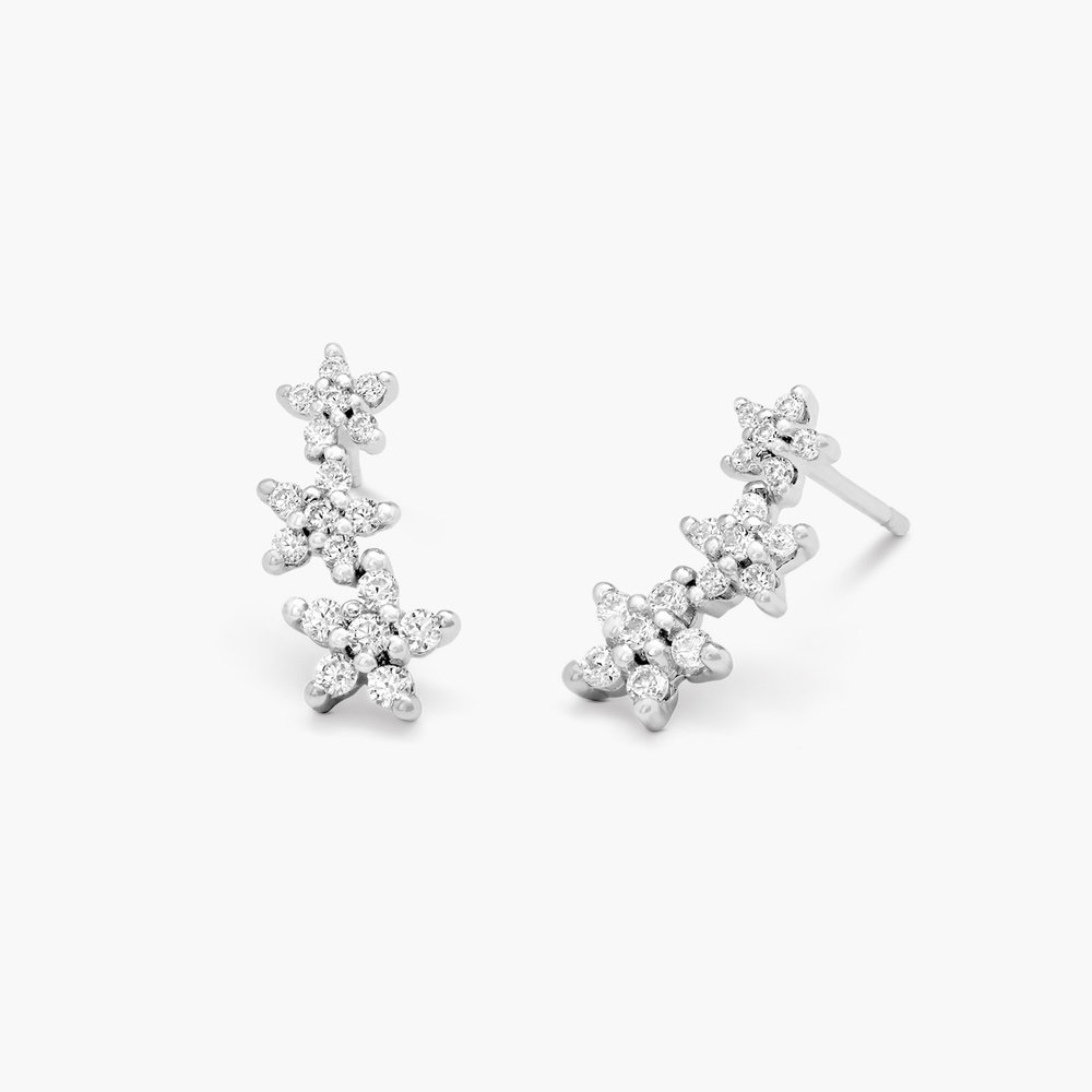 Constellation Ear Climbers - Silver