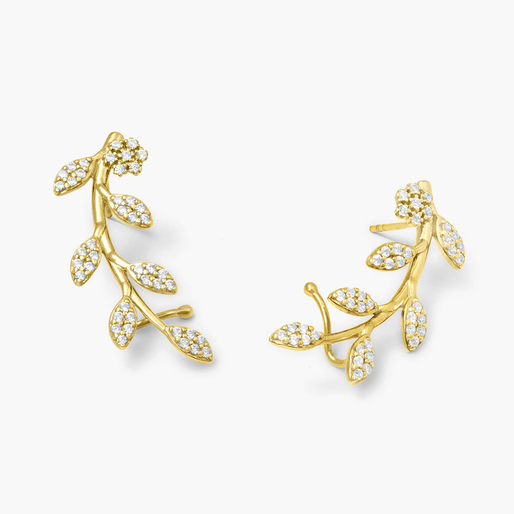 Flora Crawler Earrings - Gold Plated