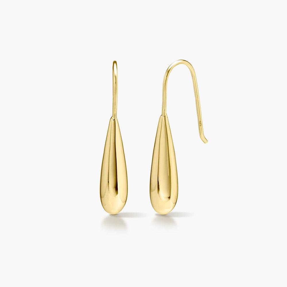 Teardrop Dangle Earrings - Gold Plated