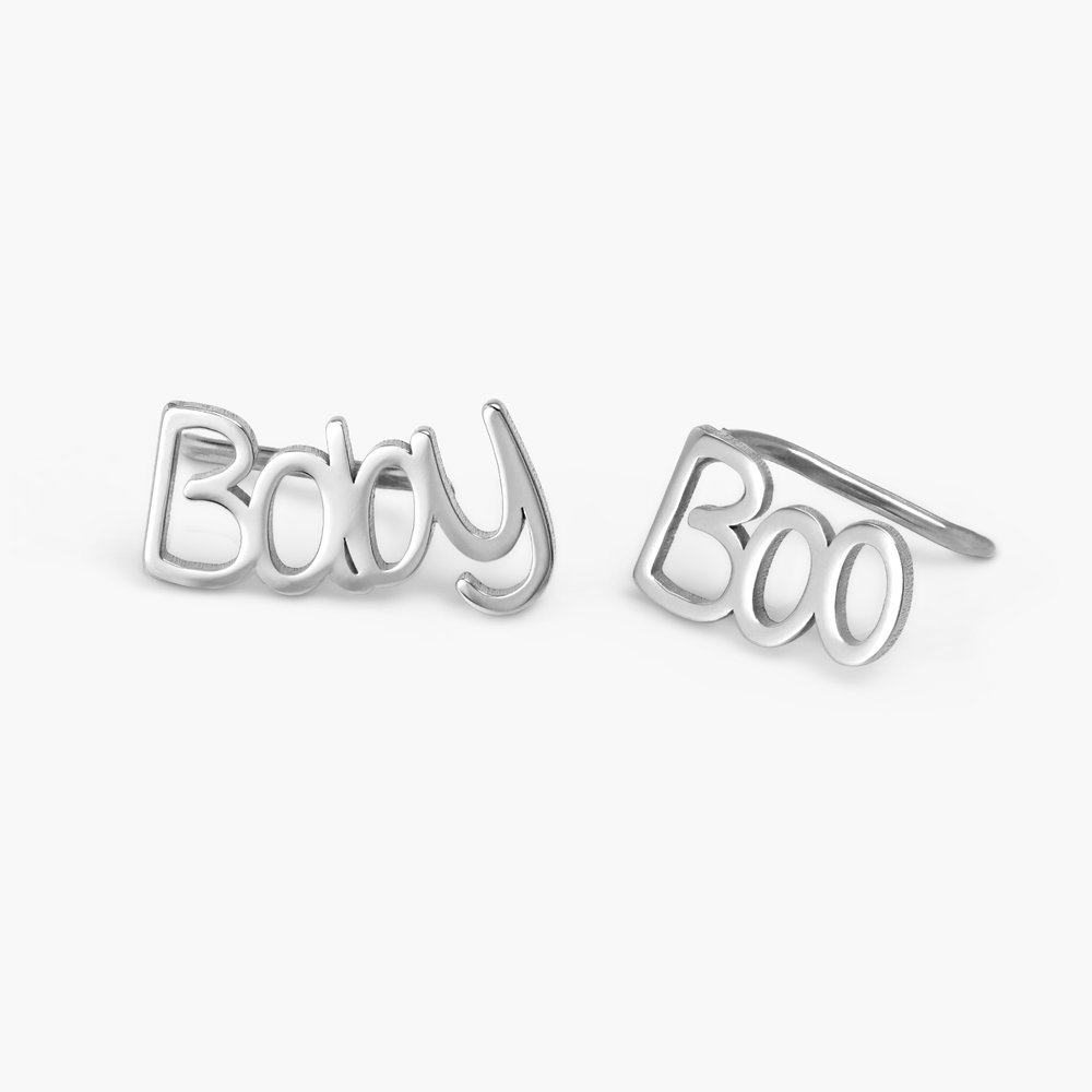 Pixie Name Earrings - Silver