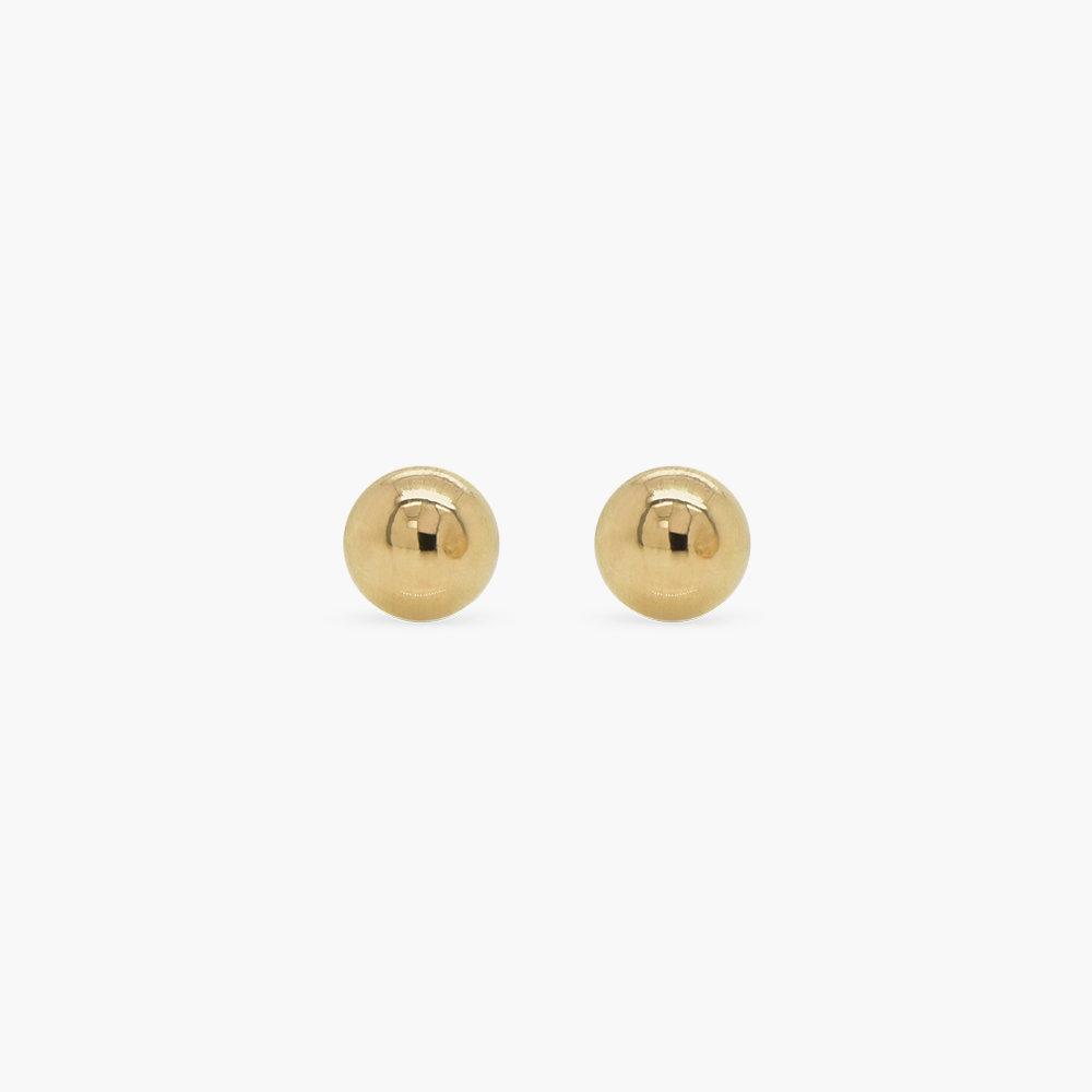 Gold Ball Stud Earrings - 10K Gold - 1