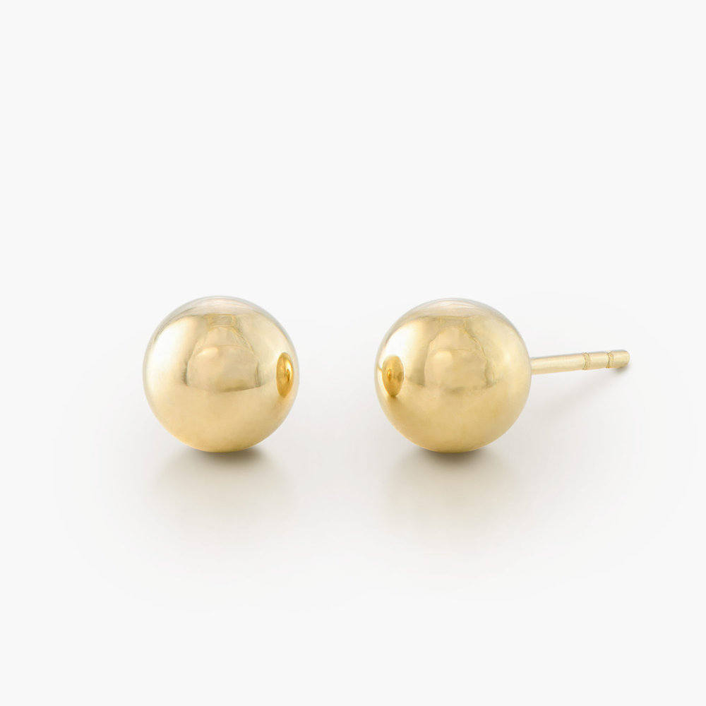 Ball Stud Earrings - 10K Gold