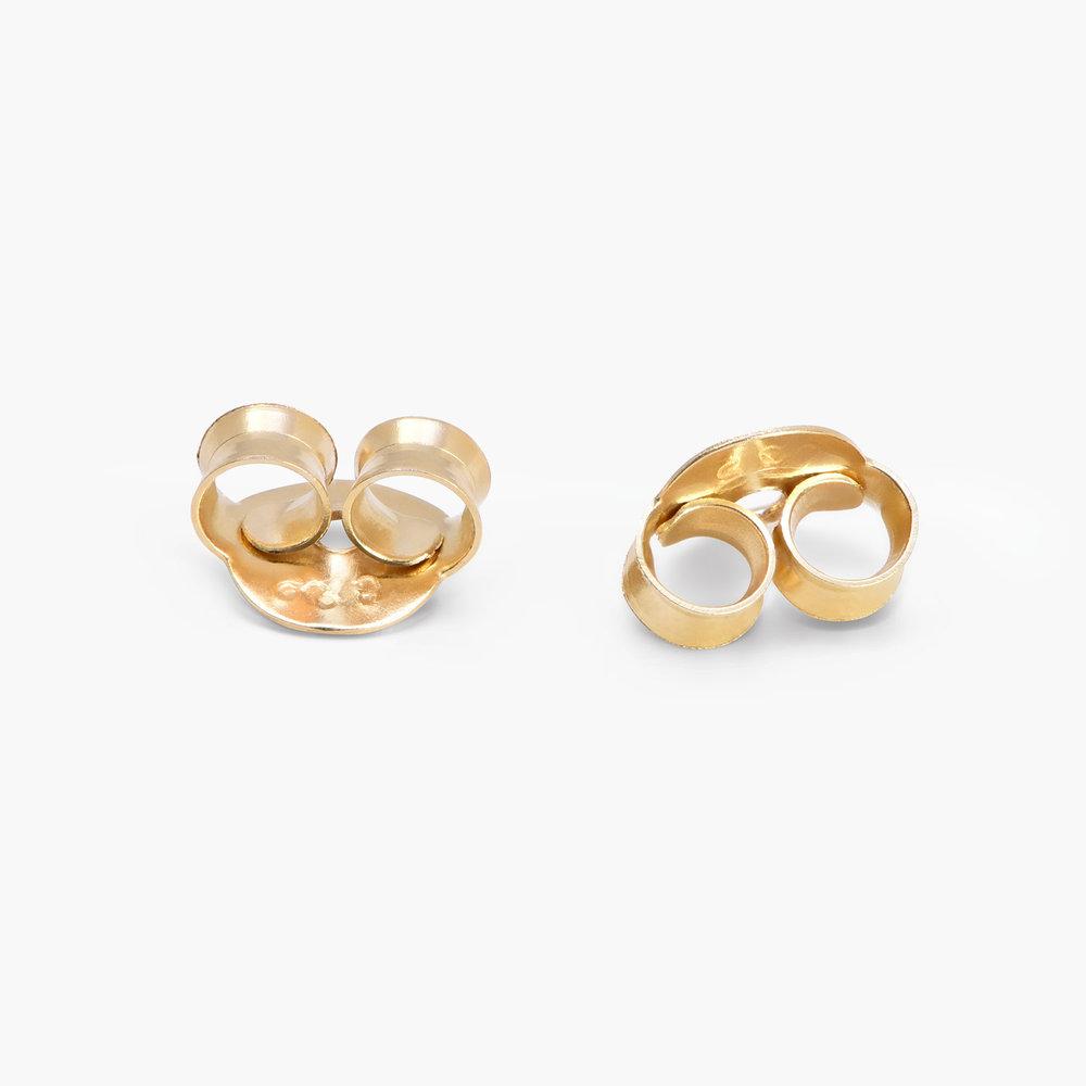 North Star Hoop Earrings - Gold Plated - 1