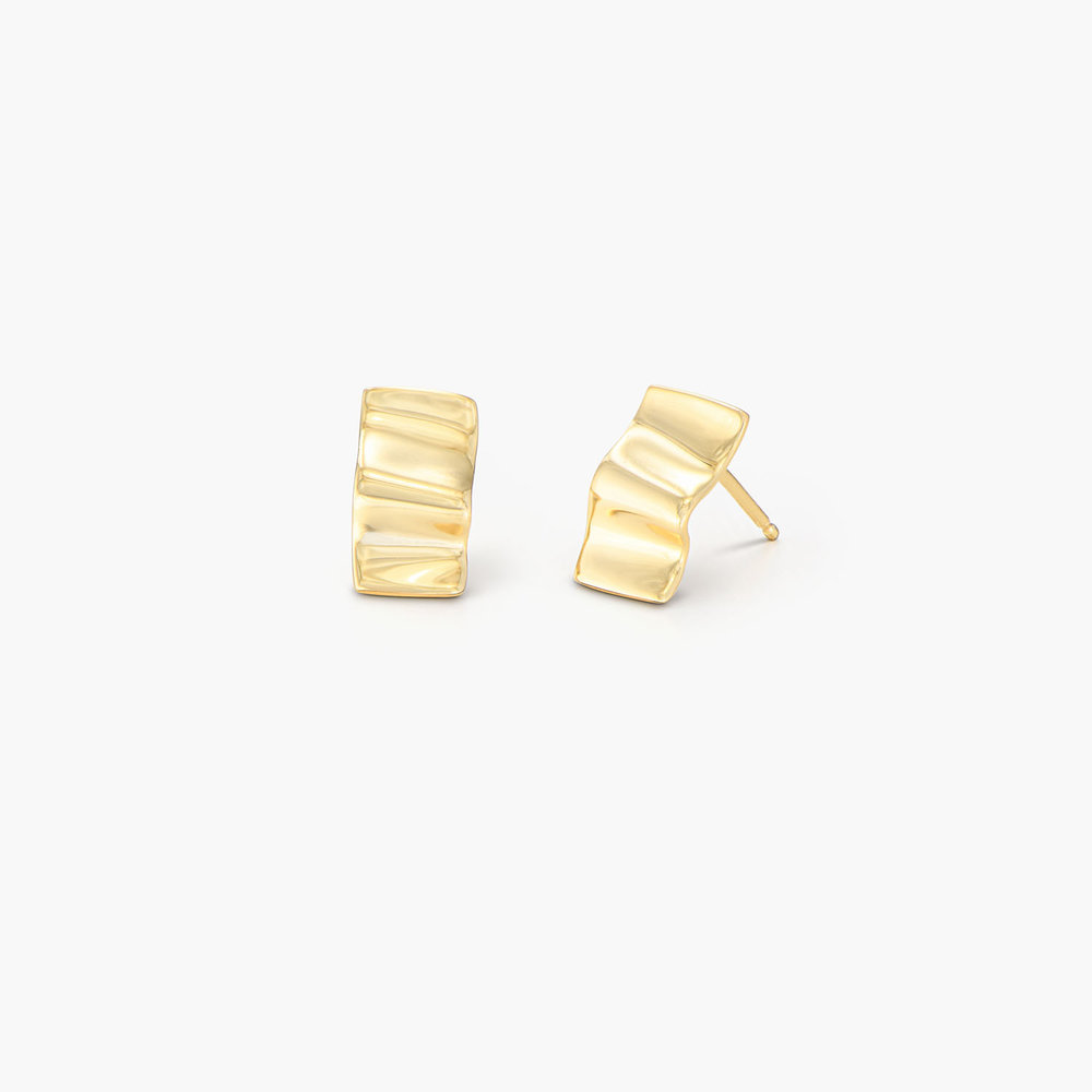 Catching Waves Stud Earrings - Gold Plated