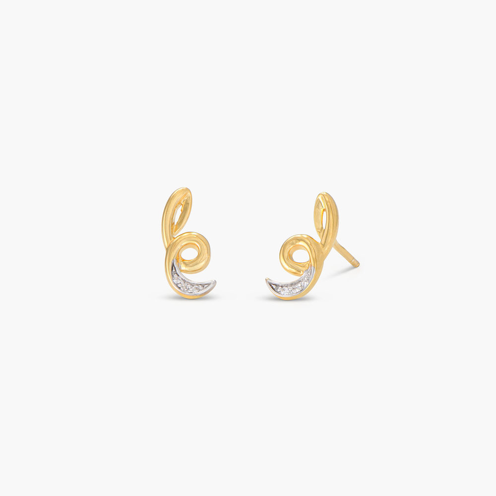 Swirl & Twirl Earrings - Gold Plated