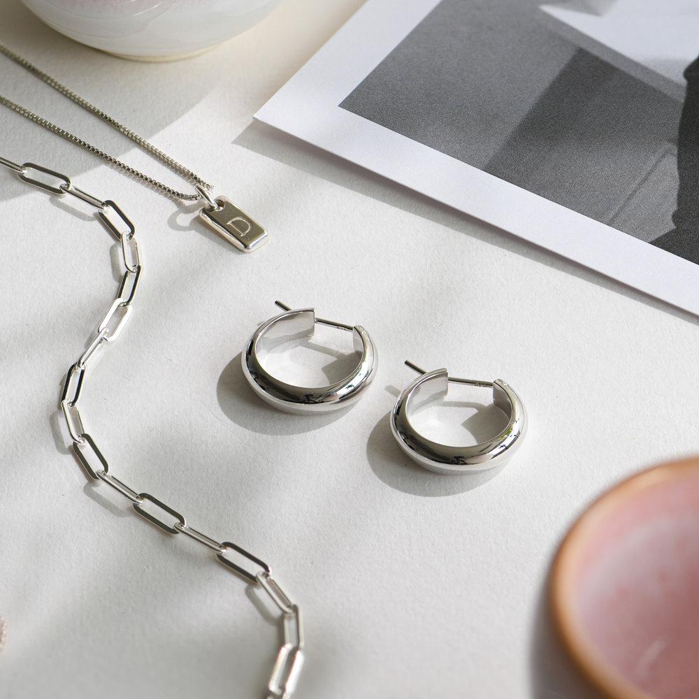 Dynamite Hoop Earrings - Sterling Silver - 1