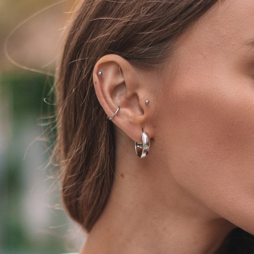 Dynamite Hoop Earrings - Sterling Silver - 3