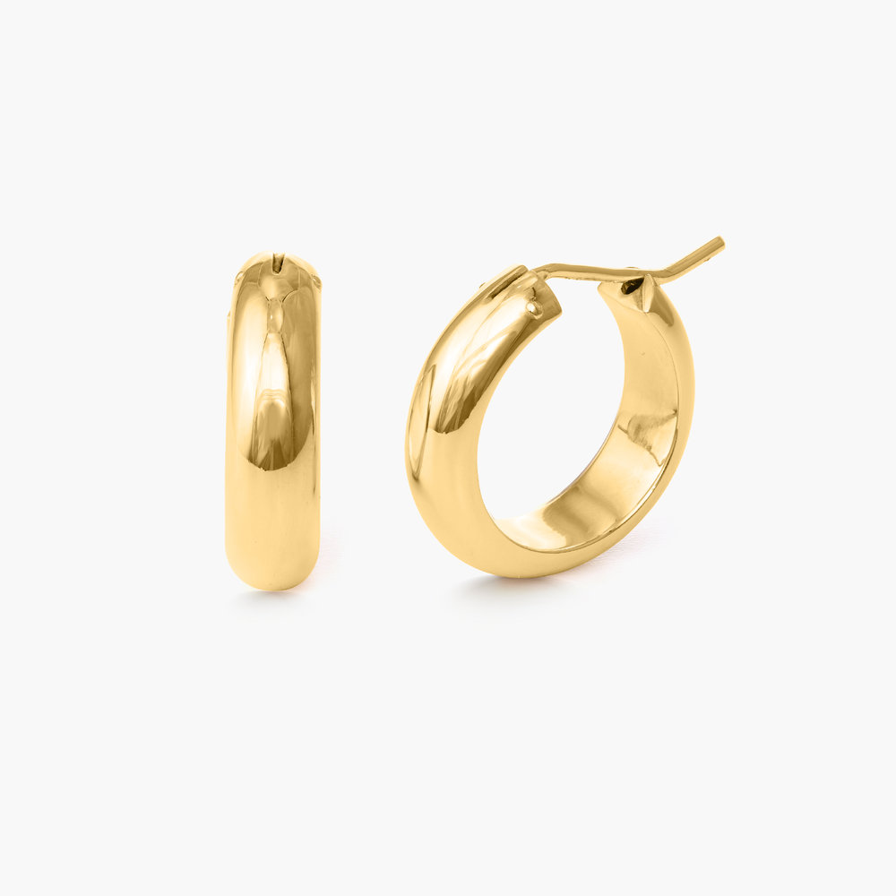 Dynamite Hoop Earrings - Gold Plated