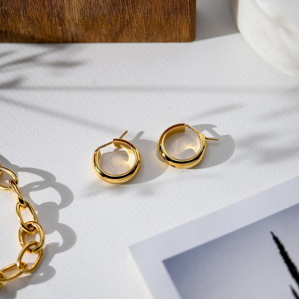 Dynamite Hoop Earrings - Gold Plated - 1