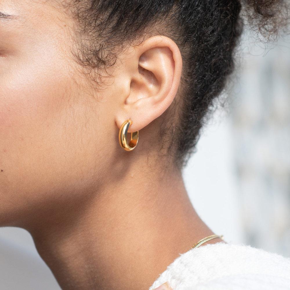 Dynamite Hoop Earrings - Gold Plated - 3