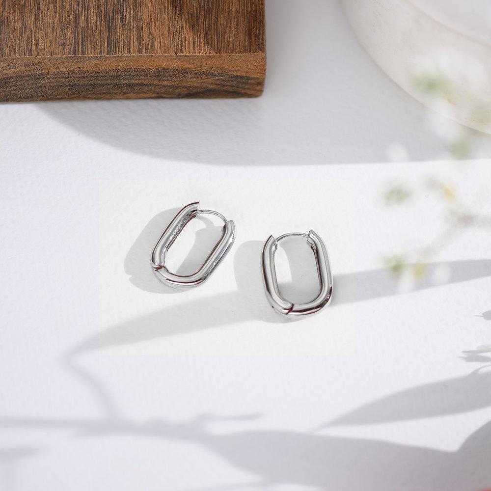 Play it By Ear Link Earrings - Sterling Silver - 2