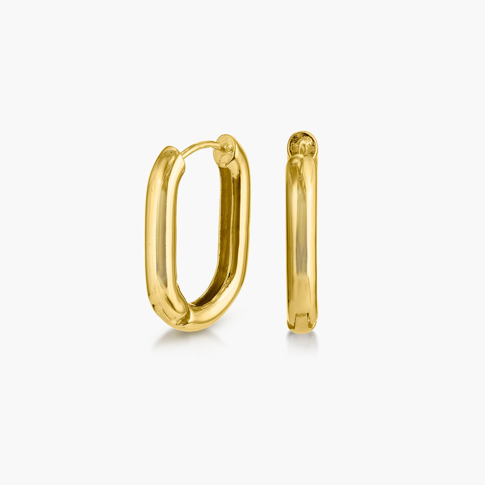 Play it By Ear Link Earrings - Gold Plated