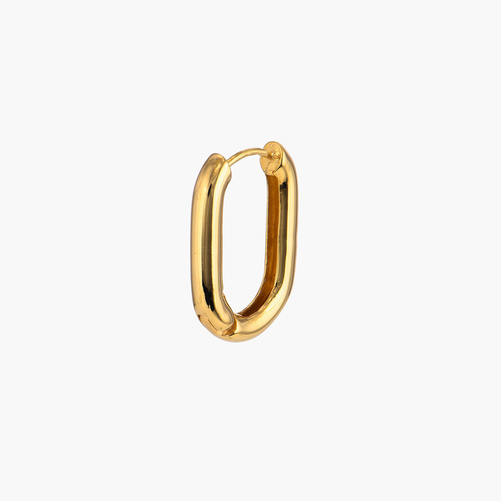 Play it By Ear Link Earrings - Gold Plated - 1