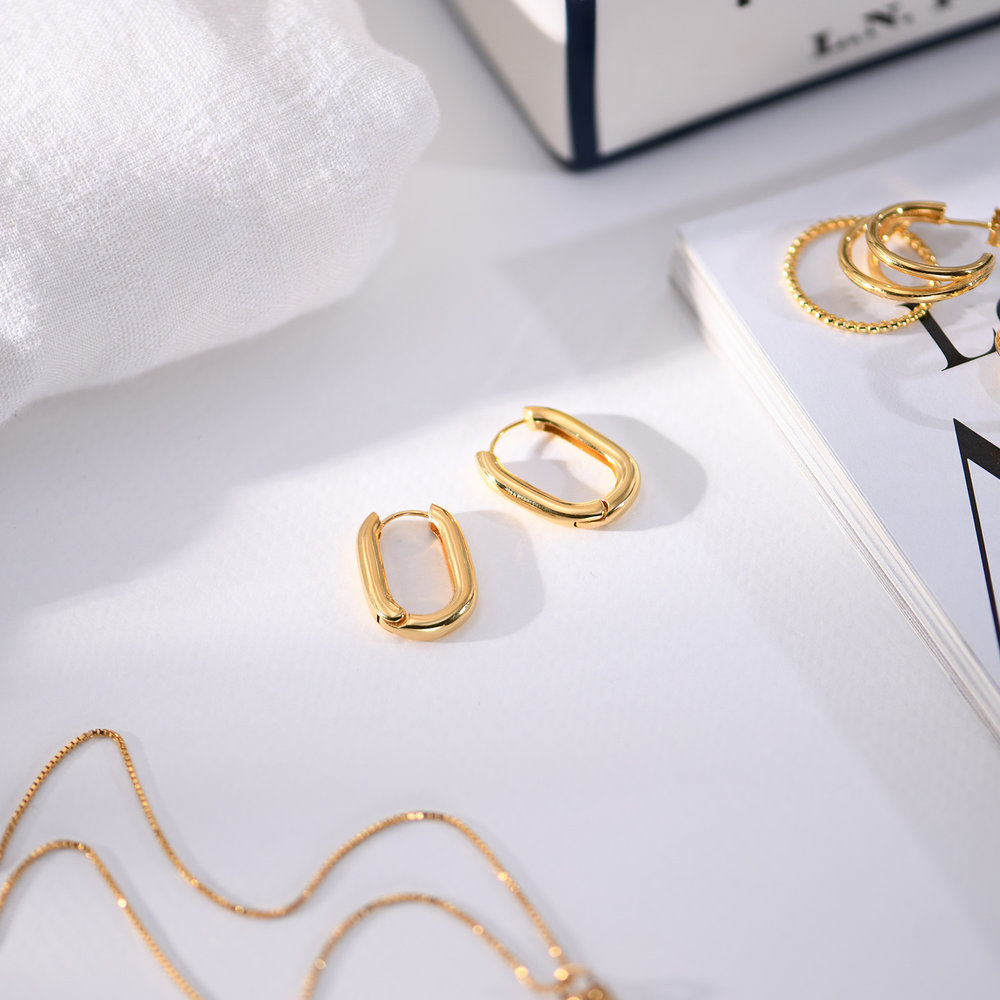 Play it By Ear Link Earrings - Gold Plated - 3