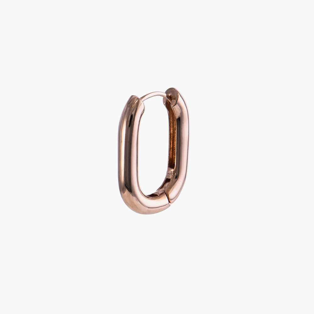 Play it By Ear Link Earrings - Rose Gold Plated - 1