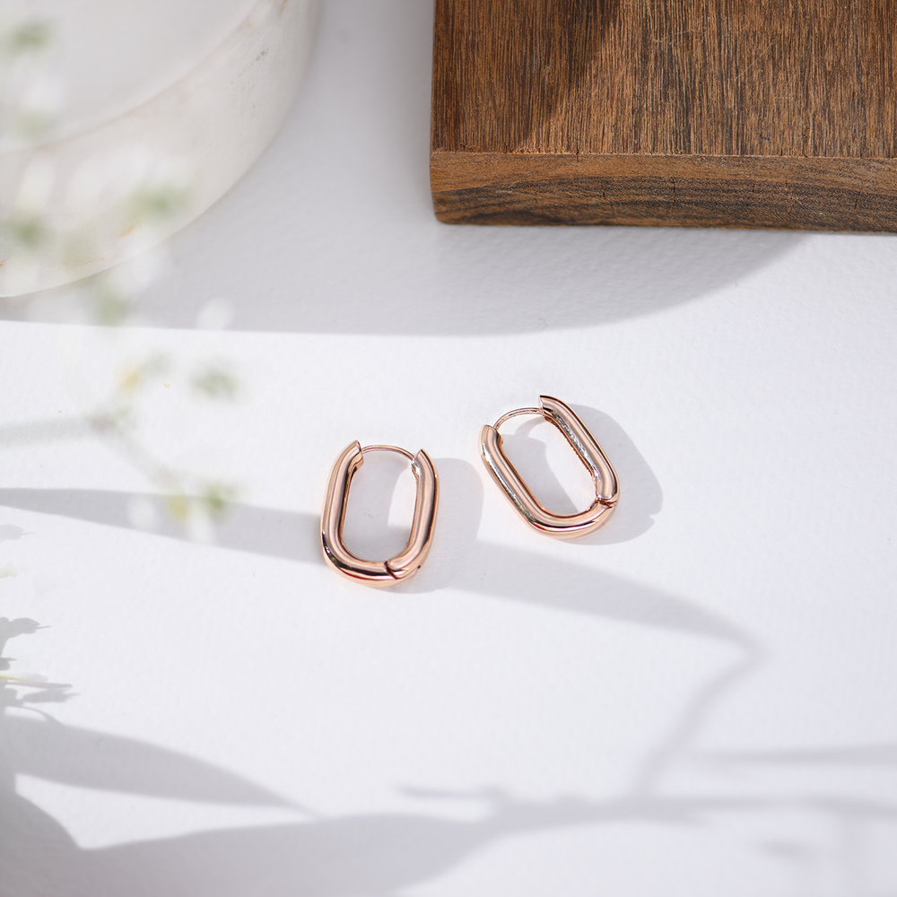 Play it By Ear Link Earrings - Rose Gold Plated - 5