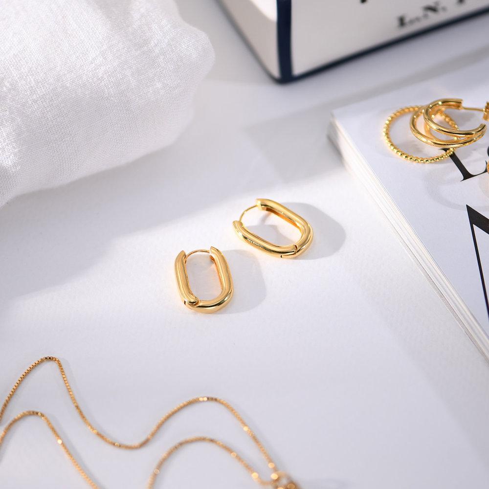 Play it By Ear Link Earrings - Gold Vermeil - 1