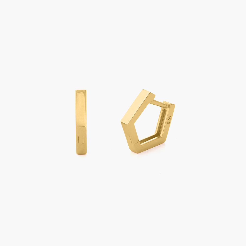 Strike Gold Hoop Earrings - Gold Plated