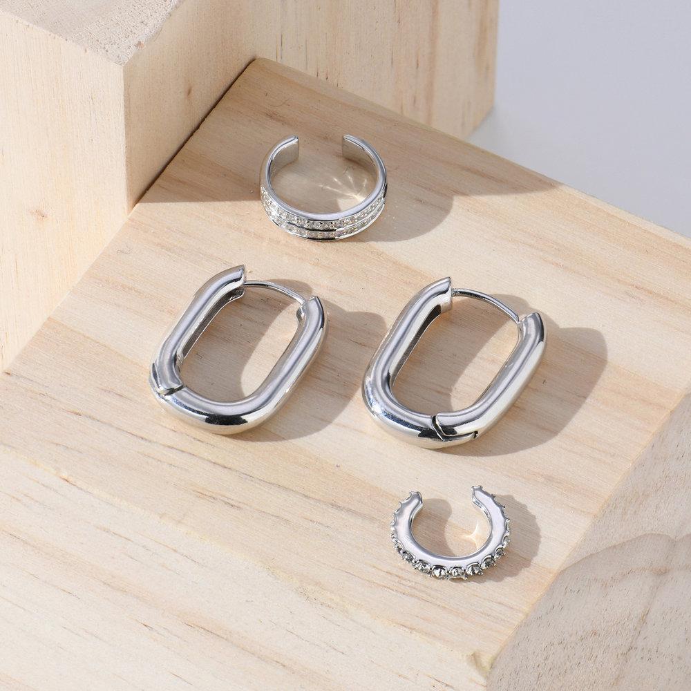 Capri Cuff Earrings - Sterling Silver - 1