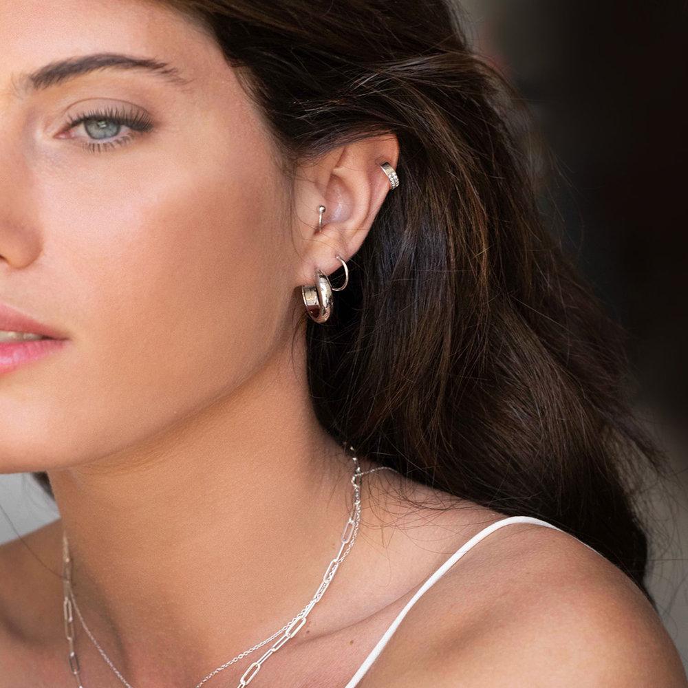 Capri Cuff Earrings - Sterling Silver - 2