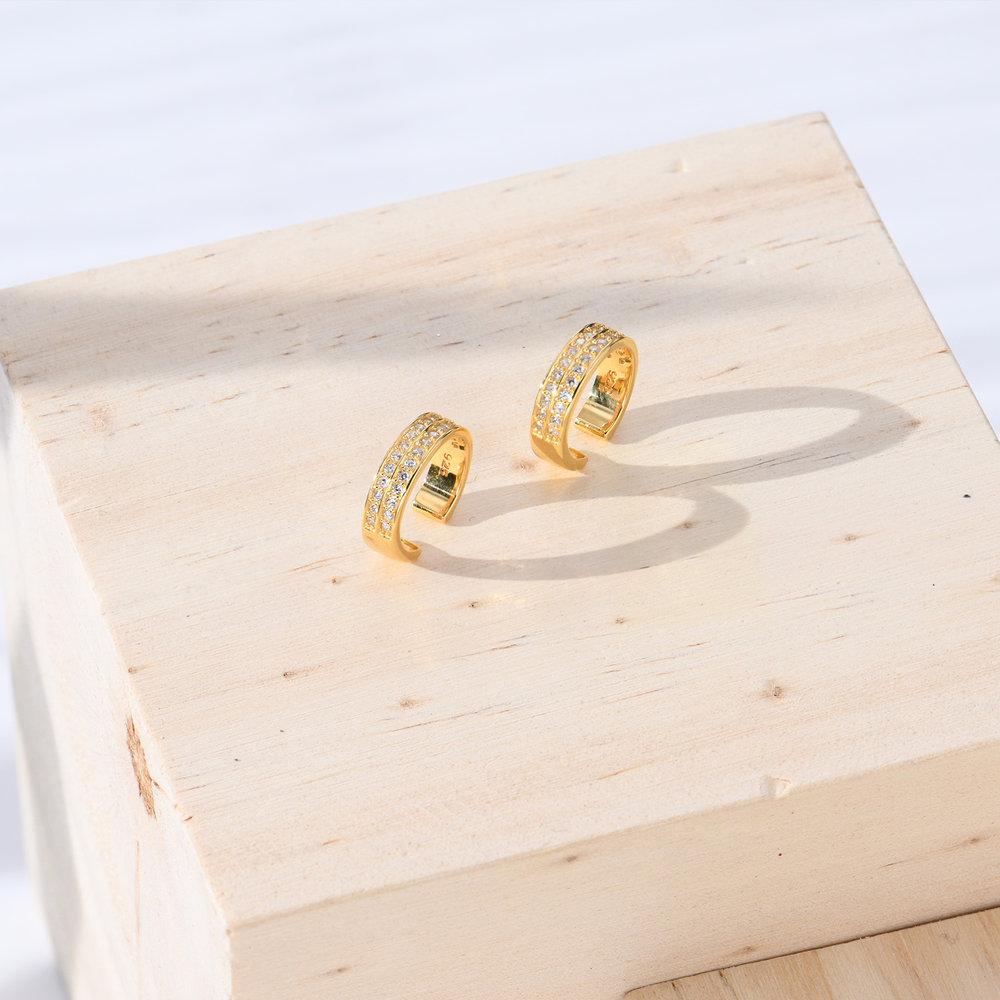 Capri Cuff  Earrings - Gold Plated - 1