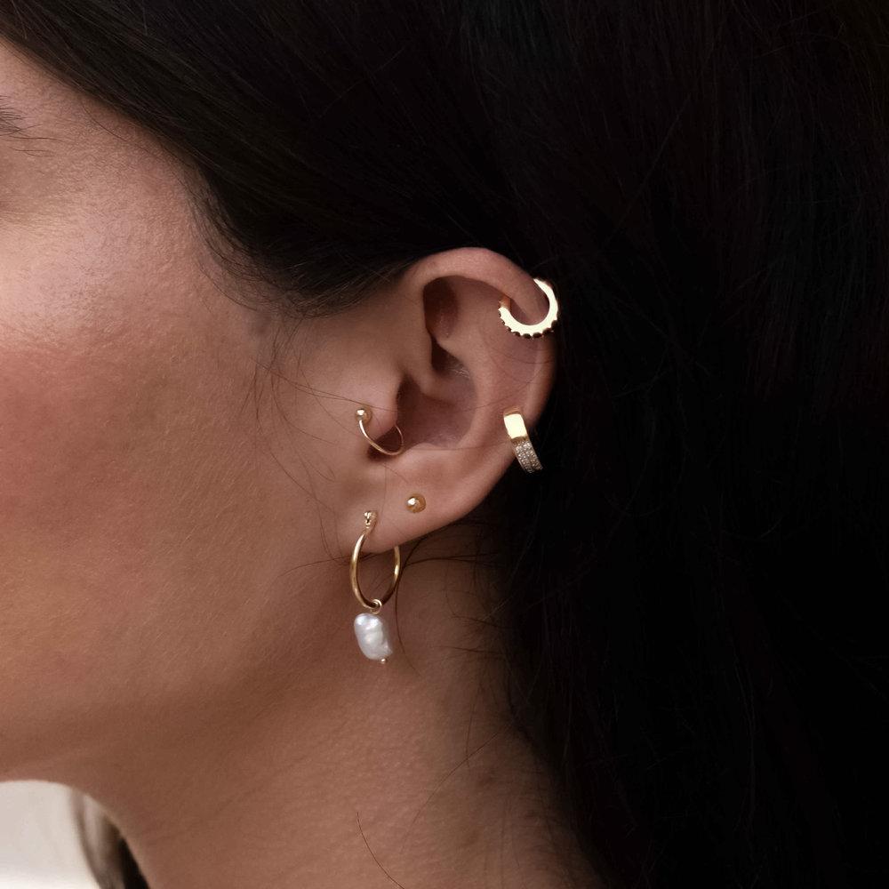 Capri Cuff  Earrings - Gold Plated - 2