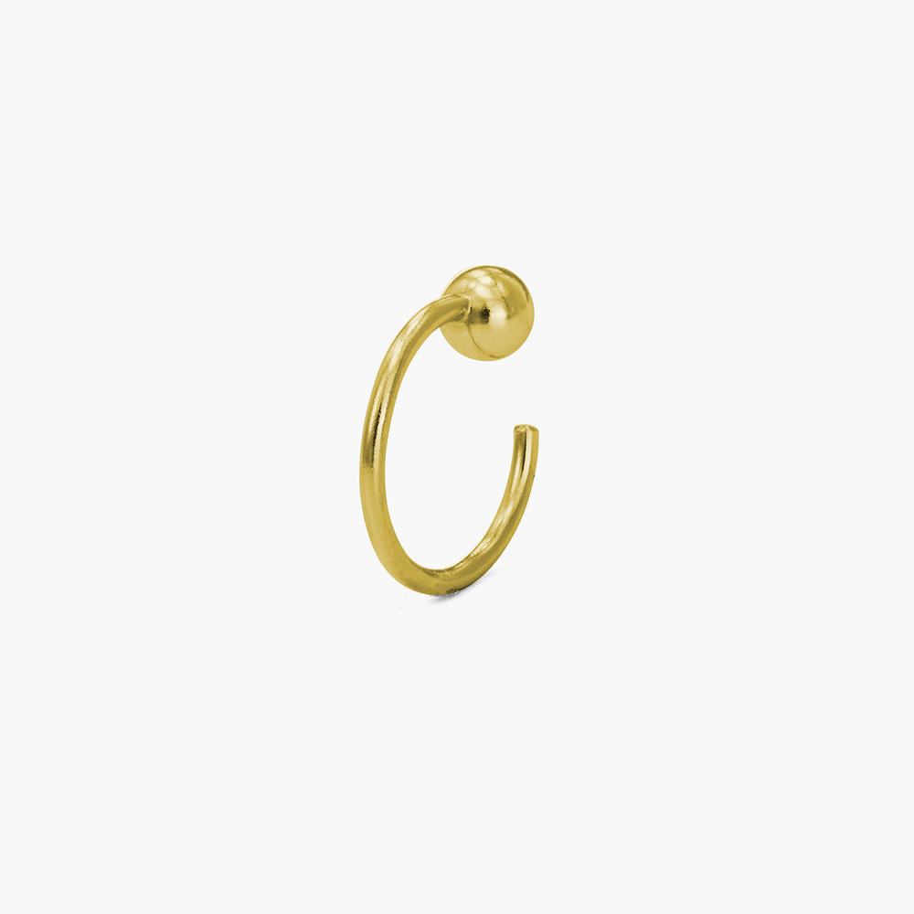 Having a Ball Hoop Earrings - Gold Plated