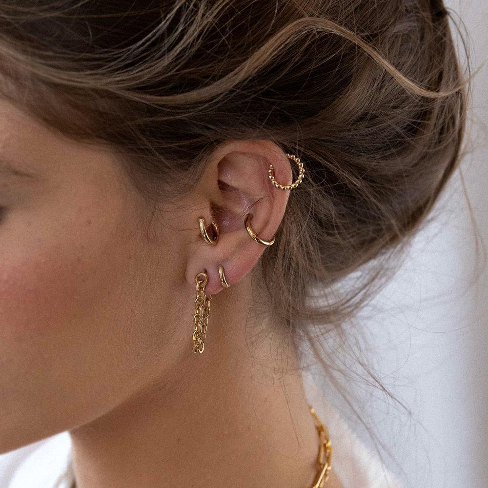 Mini Huggies Hoop Earrings - Gold Plated - 1