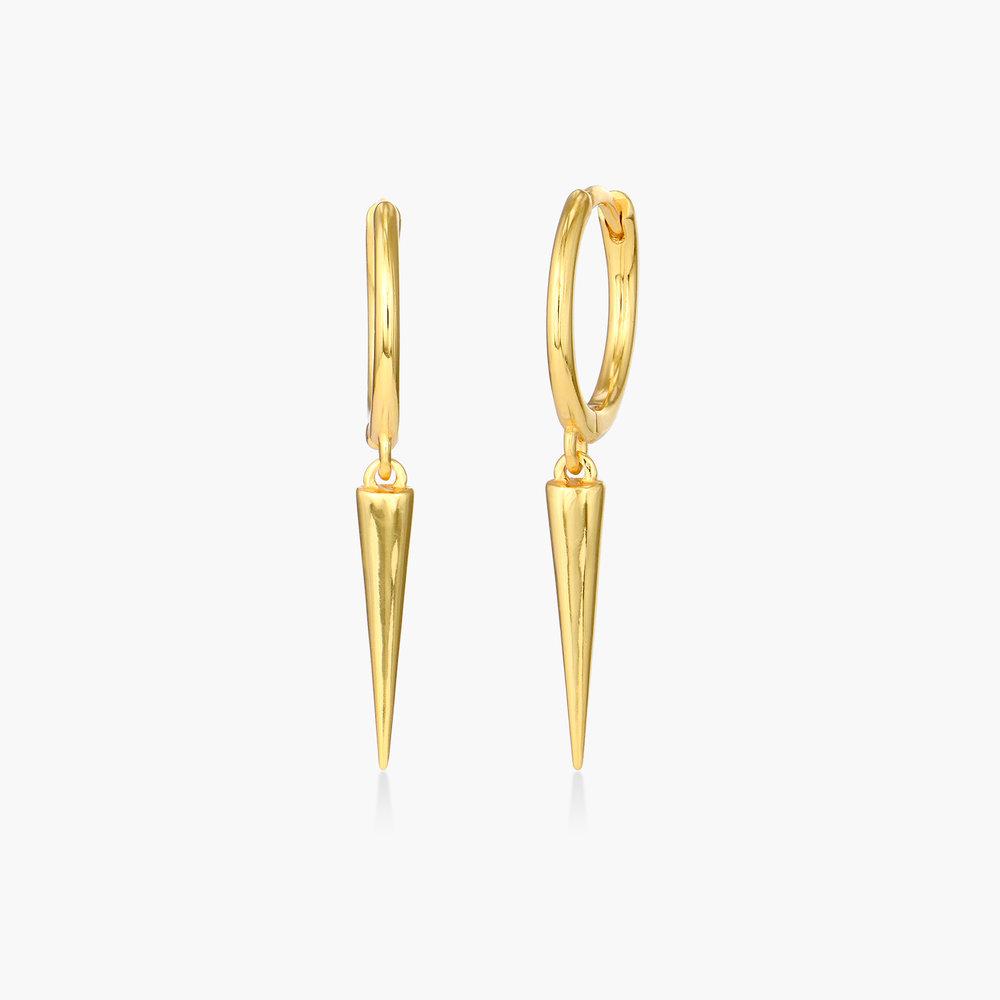 Spike Hoop Earrings - Gold Vermeil
