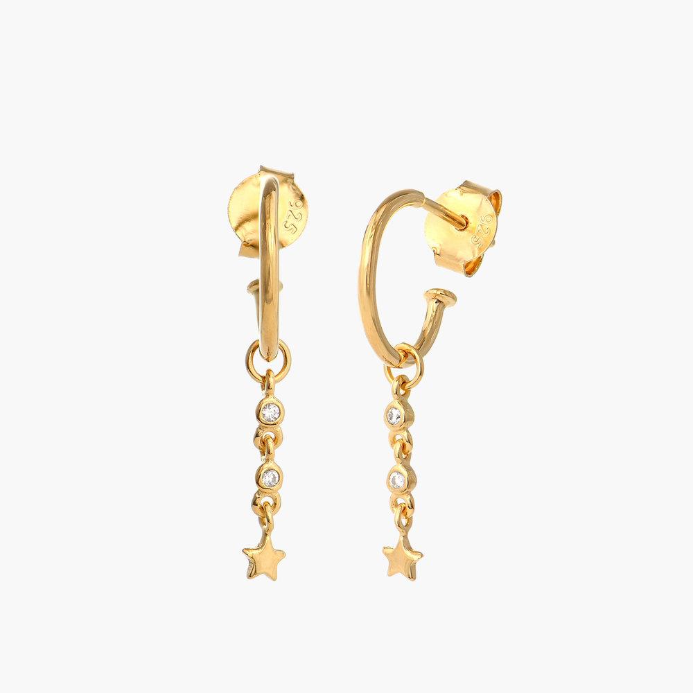 Star Hoop Earrings - Gold Plated