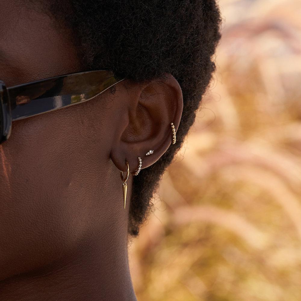 Annalise Diamond Stud Earrings - 14K Solid Gold - 2